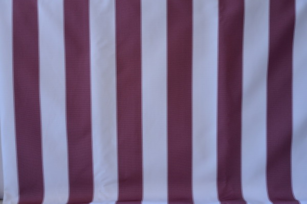 Burgundy and white stripes